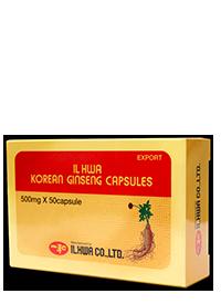 CÁPSULAS DE GINSENG COREANO 500 mg.